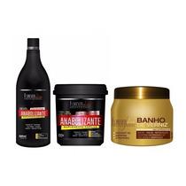 Anabolizante 250g + Shampoo 300ml + Banho De Verniz 250g