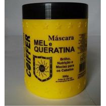 Máscara Profissional De Mel E Queratina Coiffer 500g