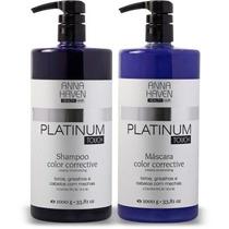 Shampoo E Máscara Anna Haven Platinum Profissional 1000 Gr