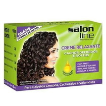 Kit Creme Relaxante Salon Line Cachos Definidos E Soltos