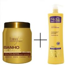 Cauterização Capilar Profissinal + Shampoo Sem Sal Queratina