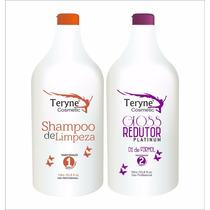 Escova Progressiva 100% Orgânica Teryne -0% Formol Afro Liso