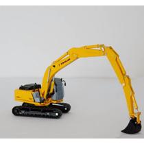 Miniatura Escavadeira New Holland E215b L Longo Alcance 1/87