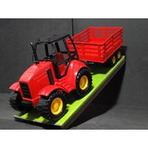 Trator Agricola Reboque Carga Comp=42cm Larg=12cm Alt=16cm