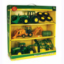 Miniatura John Deere 3 Tratores + Pneus,feno,grade,concha