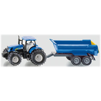 Toy Tractor Agrícola - Siku New Holland & Trailer 1:50