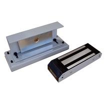 Fechadura Eletromagnética 150kgf Porta Vidro Deslizante Ipec