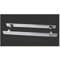 Puxador Para Porta Duplo Reto 750mm Inox Polido Tozzatto