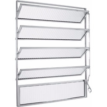Vitro Basculante Alumínio Branco 100 X 60 1 Pçs