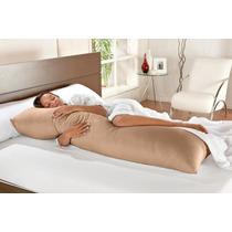 Travesseiro E Fronha De Corpo Gigante Mega Xuxão 1,45mx45cm