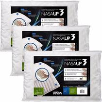 3 Travesseiro Viscoelástico Fibrasca Toque Macio - Nasa Up3