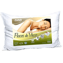 Travesseiro Flocos De Visco Elástico Percal 16cm Nasa Nap