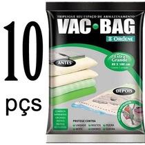 Kit 10 Sacos A Vacuo Embalagem Vac Bag Extra Grande 100 X 80