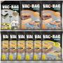 Kit Com 12 Saco A Vácuo Vac Bag (10 Médio +2 Grande + Bomba)