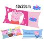 50 Travesseirinhos Almofadas Lembrancinha 40x20 Peppa Pig