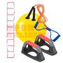 Kit Funcional Bola Pilates, Corda De Pular, Escada Agilidade