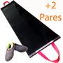 Plataforma Deslizante, Slide Board, 2,00x0,50m + 2 Pares