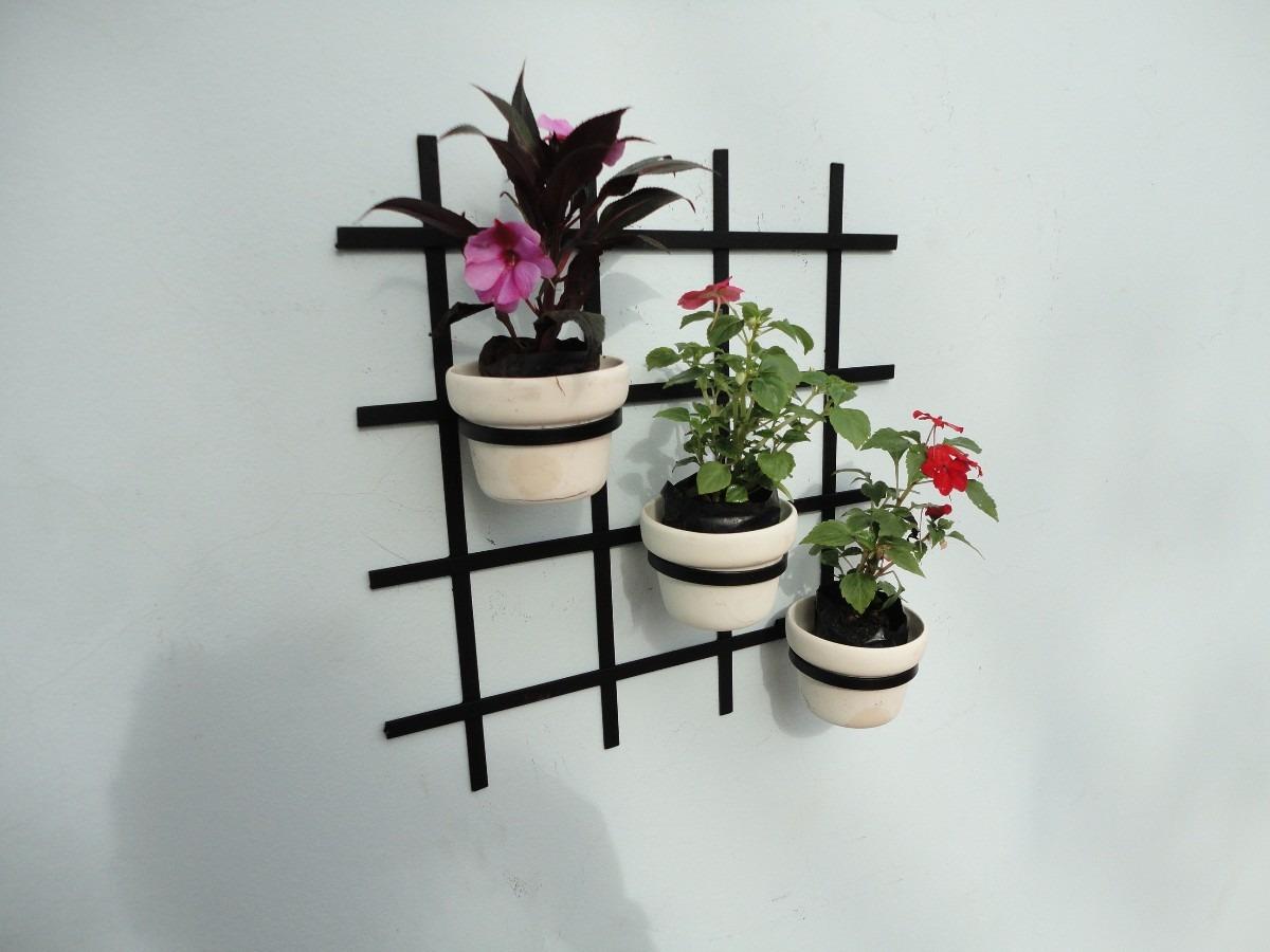 trelica jardim vertical:Treliça De Jardim Vertical Com Suporte Para Vaso – R$ 39,00 no