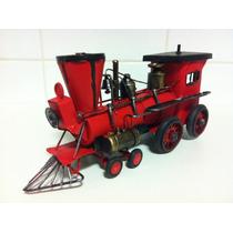 Miniatura Lata Retro Trem Maria Fumaça Locomotiva