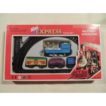 Trenzinho Mini Express A Pilha Com Trilhos