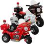 Mini Moto Eletrica Infantil Triciclo Policia 6v 2 A 6 Anos