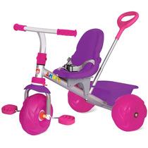 Triciclo Passeio Motoca Infantil Smart Pop Rosa Bandeirante