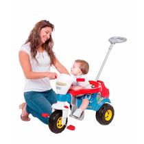 Triciclo Bichos Azul Com Empurrador - Magic Toys Oferta!!