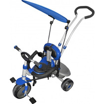 Triciclo Infantil Super Treck Premium 2 Em 1 Azul Bel 900802