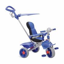 Triciclo Infantil Smart Comfort Bandeirante Azul Com Capota