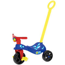Bicicleta Triciclo Carrinho Peixinho Com Empurrador Xalingo