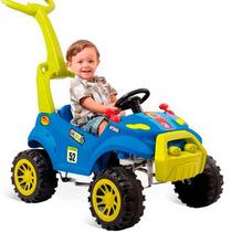 Carrinho Smart Passeio Azul Com Pedal Bandeirante