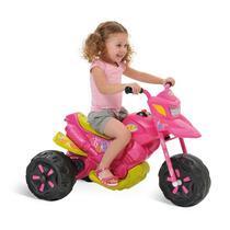 Mini Moto Eletrica Infantil Rosa Triciclo Criança Menina