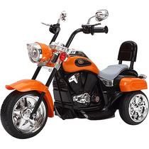 Moto Eletrica Infantil Laranja Similar Harley Davidson