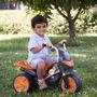Moto Elétrica Infantil Speed Cinza E Laranja 6v - Brink+