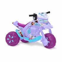 Moto Triciclo Zx-cross Frozen Elétrica 6v Bandeirante