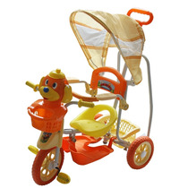 Carrinho Bebê Triciclo 3 Em 1 Som Luz Gangorra Laranja 9111