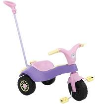 Triciclo Infantil Motoca Com Empurador Praia Lilás Homeplay