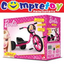 Velotrol Da Barbie Bandeirante; Triciclo Feminino Infantil