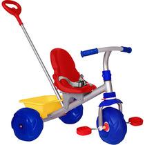 Triciclo Infantil Motoca Passeio Smart Pop Azul Bandeirante