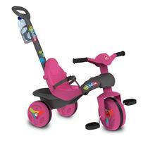 Triciclo Infantil Veloban Frozen Passeio Pink