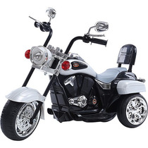 Moto Eletrica Infantil Prata Similar Harley Davidson