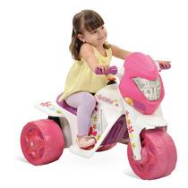 Moto Elétrica Infantil Mini Menina 6v Bandeirante 2 Marchas