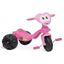 Motoca Triciclo Infantil Zootico Joaninha Rosa Bandeirante