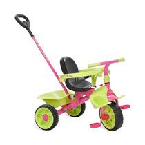 Triciclo Smart Plus Bandeirante Haste Removível Rosa