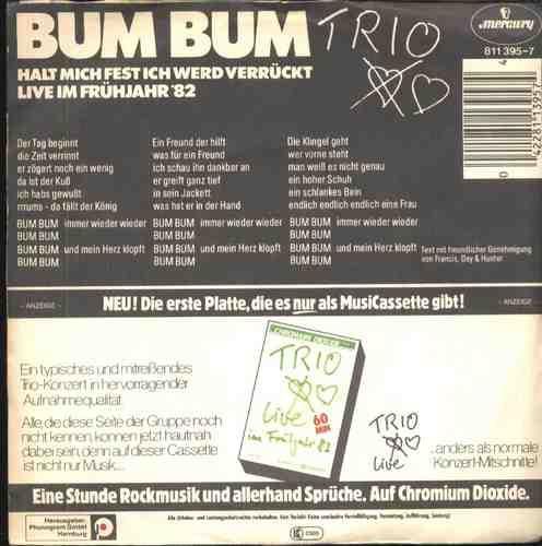 Trio Compacto De Vinil Importado Bum Bum 1983