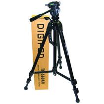 Tripe Para Câmera Digital, Dslr, Filmadora 1,60 Mts Tr 560an