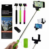 Bastão Selfie Monopod Com Controle Remoto Bluetooth Adap Cel