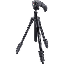 Tripé Manfrotto Compact Action Black Mkcompactacn-bk - Vídeo