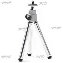 Mini Tripé Portatil Metal Ajustável Para Cameras E Filmadora