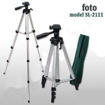 Tripé Universal Aluminio 1.20 Metro Sl2111 Camera Filmadora